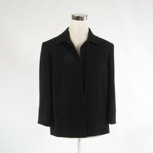 Louben black open front blazer jacket 6